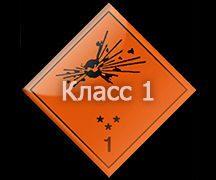 Класс 1 - Взрывчатые вещества и изделия.